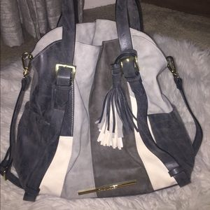 Grey STEVE MADDEN hand bag with tassel